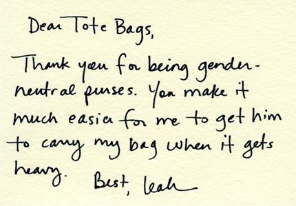 Dear tote bag